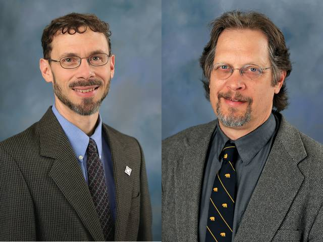 Dr. Jonathan Andreas, left, and Dr. Perry Bush
