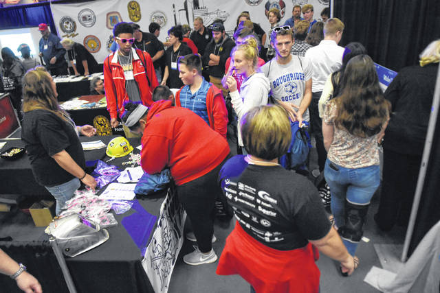 Students from the region explored MakerFest 2017 at the Lima Civic Center. Over 1,500 students attended the event.