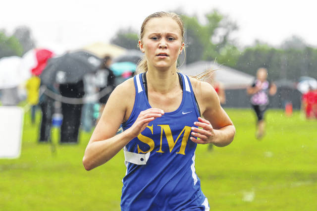 Morgan Henschen led St. Marys to the Black Division (large schools) championship at the Spencerville Bearcat Cross Country Invitational championship Saturday with a second-place finish.