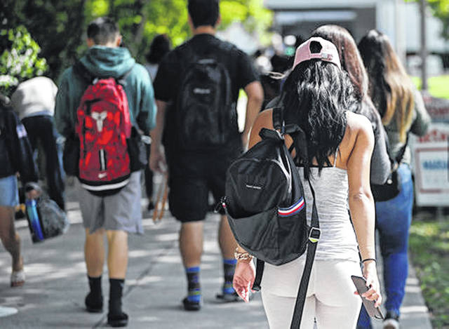 Students Walk On The Campus Of Miami Dade College In October