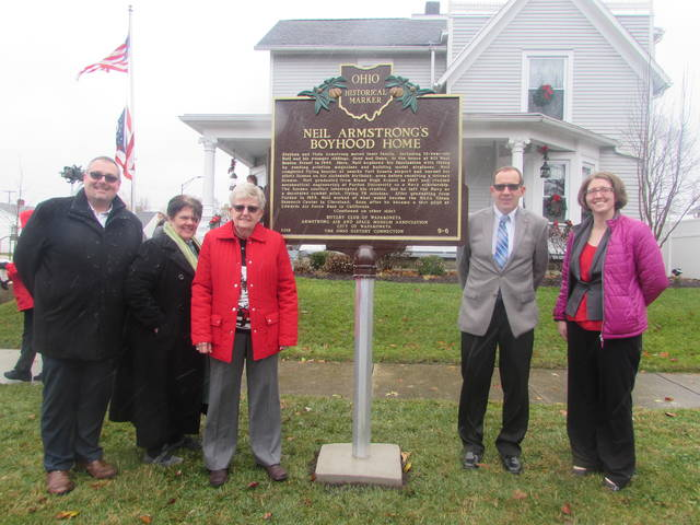 Historical Marker Installed At Armstrong S Boyhood Home The Lima