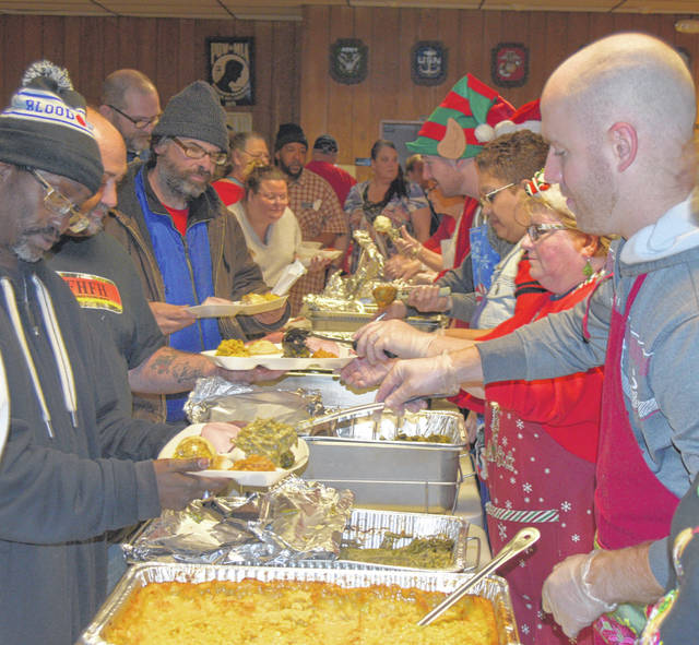 Free Christmas Dinner Near Me.Free Dinner Attracts Hundreds The Lima News
